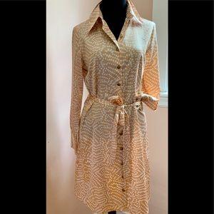 BCBG  MAXAZRIA silk look dress -Like New